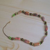 Collana con perle di Murano anni 70-80