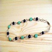 Collana con perle e pietre dure anni 60