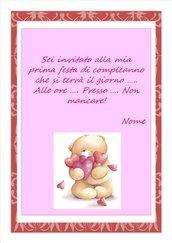 Invito digitale primo compleanno femminuccia