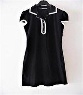 Abito - Vestito t-shirt -  Abitino bon ton  - abitino vintage - Abito nero jersei
