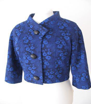 Giacca - giacchina  bolero - giacchina scaldacuore  - giacchina vintage - giacca blu