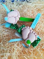 Mollettine personalizzate con piedini
