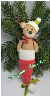 Decorazione natalizia orsetto da appendere
