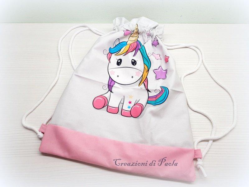 Zainetto bimba per scuola materna con unicorno