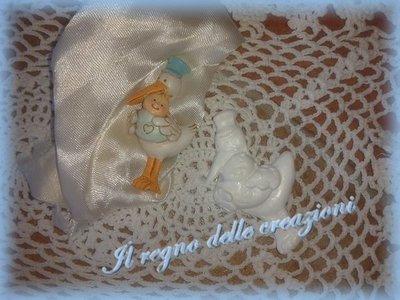 Stampo cicogna con neonato in silicone