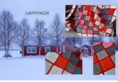 coperta in lana merino nuova fatta a mano crochet dalla natura made in Italy