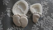 2 stampi piedini: uniti cm.6x5 - singolo cm.4,5x3,3