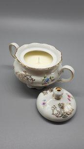 Zuccheriera candela in ceramica, bomboniera o dolce regalo per compleanno, natale, anniversario, amica, sorella....