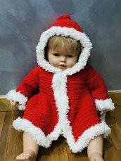 Cappotto neonata uncinetto
