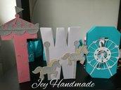 Lettere 3d lettera decorazione numero scritta compleanno età nascita festa