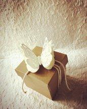 Scatolina portaconfetti con farfalla calamita