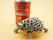 tartaruga grande  regalo natale tartaruga acciaio scultura tartaruga tartaruga artistica tartaruga metallo art metal arte del riciclo riciclato
