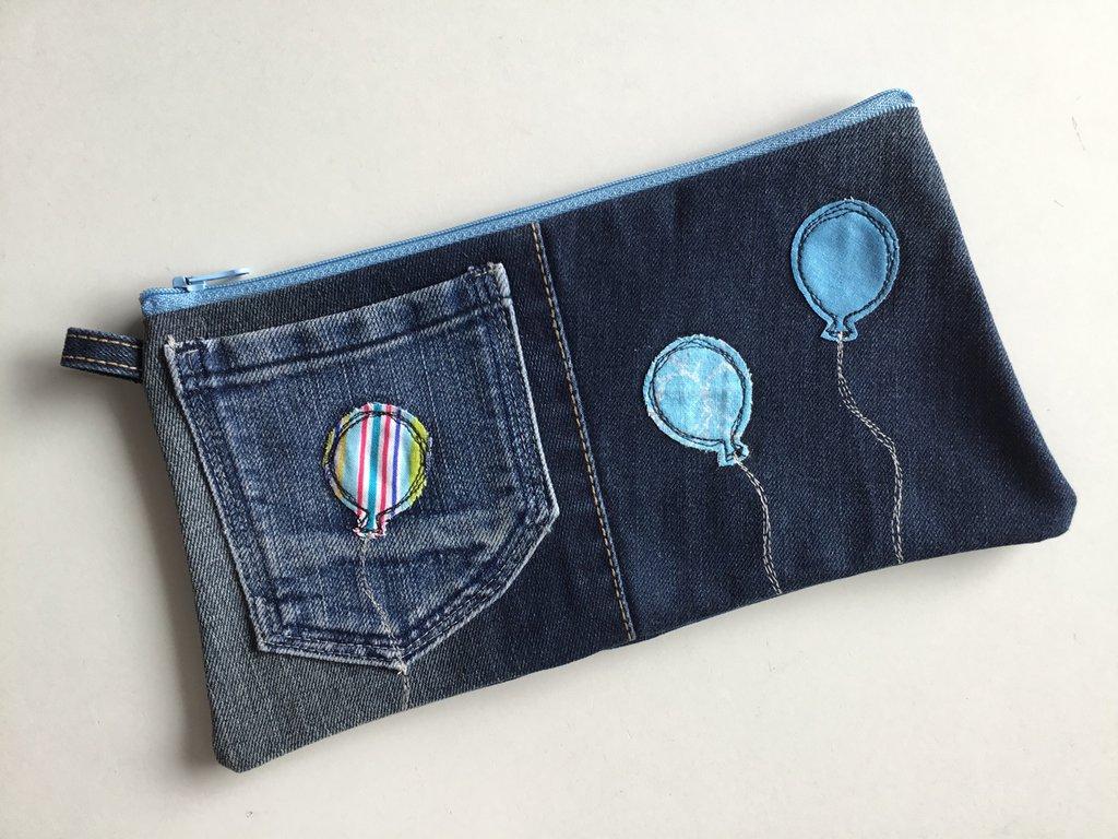 Astuccio portapenne in jeans per la scuola