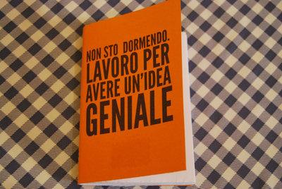 """Quadernino """"Sto avendo un'idea geniale"""" - Arancione"""