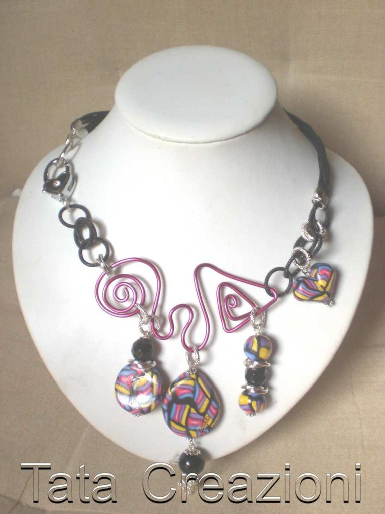 Collana con tecnica wire