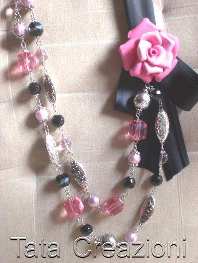 Collana con rosa