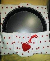 Portatorte in stoffa o portateglie idea regalo San Valentino o festa della mamma