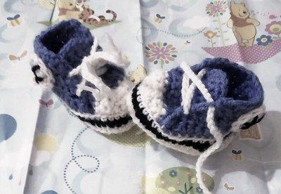 Scarpine scarpe neonato uncinetto Converse all star