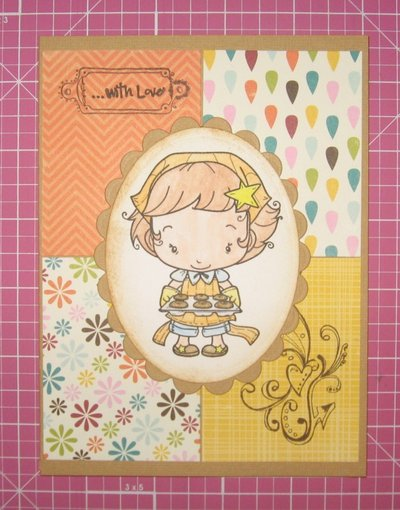 "card ""with love"" - handmade"