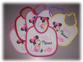 Set bavaglini Minnie per neonati