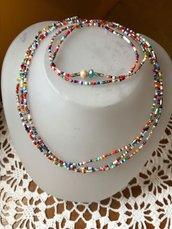 Collana multicolor elasticizzata