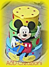 Topolino torta finta