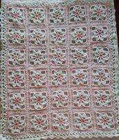 Copertina misto lana per carrozzina neonata
