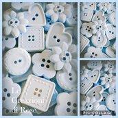 50 Gessetti profumati segnaposto battesimo nascita bottone azzurro