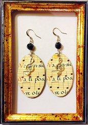 Orecchini Musica handmade
