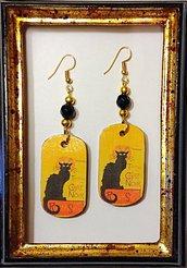Orecchini Le Chat Noir handmade