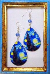 Orecchini Van Gogh Notte stellata handmade