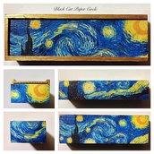 Van Gogh portagioie portapenne handmade