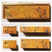 Gustav Klimt portagioie portapenne handmade
