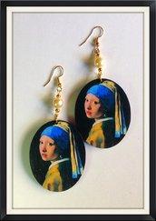 VERMEER La ragazza con l'orecchino di perla Orecchini handmade