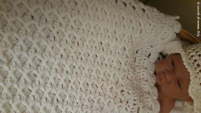 Copertina per culla in lana bianca bambini per la nanna di