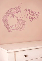 Adesivo unicorno con frase