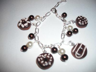 bracciale donuts ciambelline cioccolato fondente