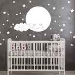 La luna sognante Adesivi murali bambini, stickers murali