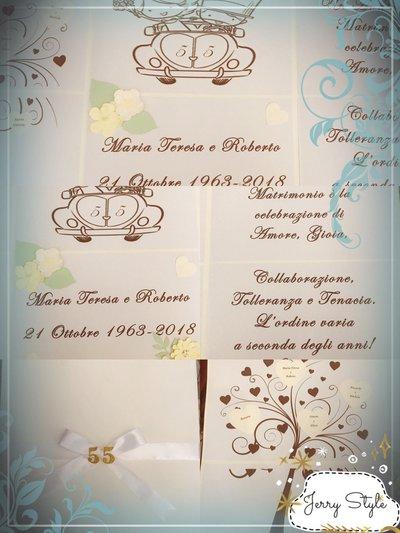 Anniversario Matrimonio 18 Anni.Cartellone Decorativo Chiuso A Libro Anniversario Matrimonio
