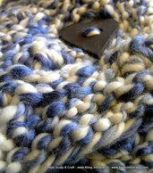 Valentine Blue - Scaldacollo di lana grossa-