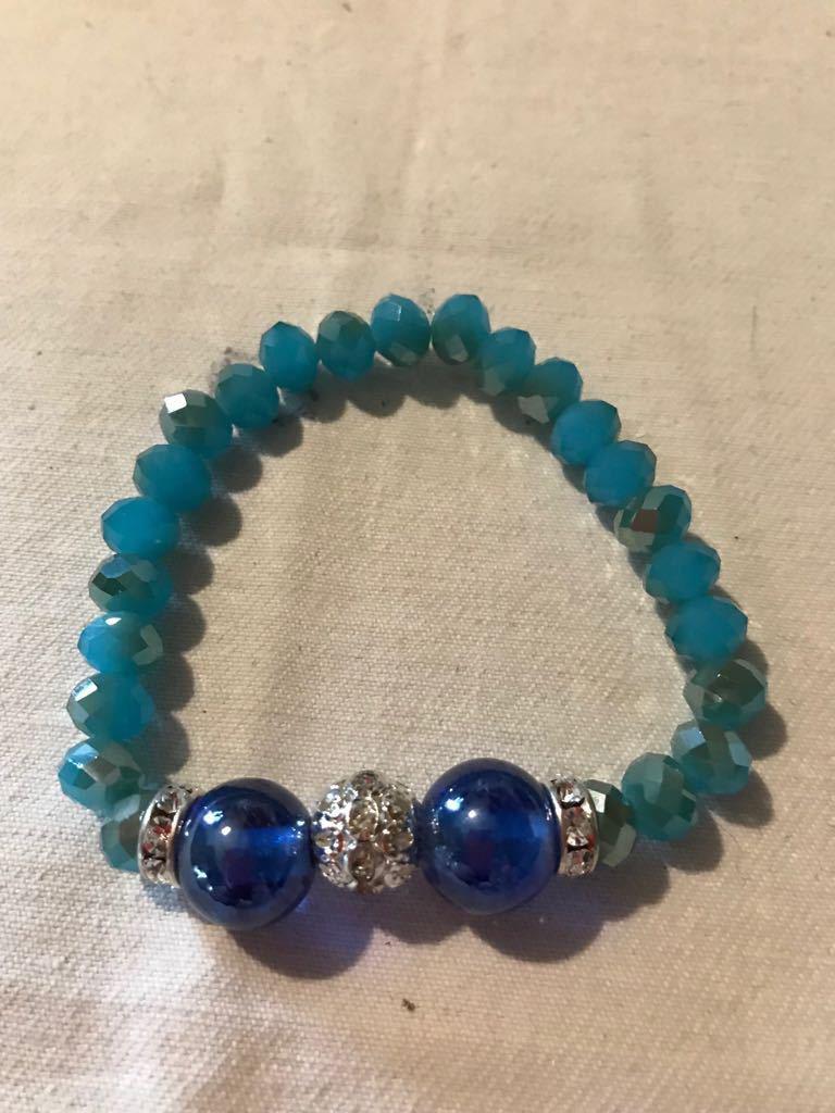 Bracciale donna vetro di murano blu