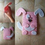 Portacellulare Pink Dog // Feltro e Pannolenci // Fatto a mano ❤