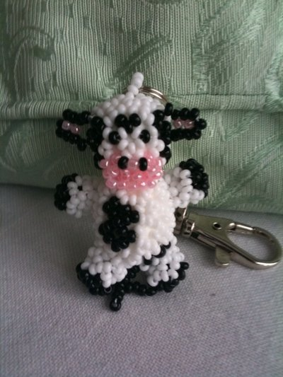 Porte-clé vache