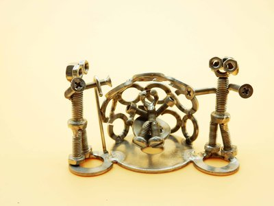 nativity set presepe artistico scultura in acciaio presepe prezioso presepe arte nativita natività Art metal
