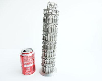 scultura acciaio regalo regalo natale torre di pisa Art metal riciclo toscana arte pisa arte tower regalo pisano torre pisa