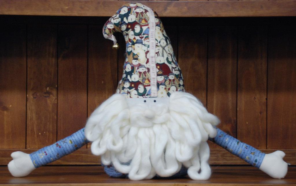 Cuscino gnomo di Babbo Natale