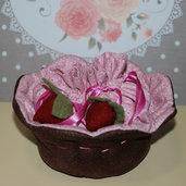 Portagioie Cupcake rosa e marrone