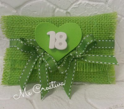 Busta iuta verde 18 anni