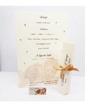 invito battesimo angeli pergamena comunione cresima primo bacio angioletto strass