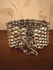 Il braccialetto argento oro